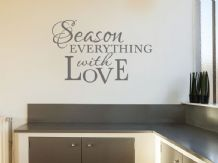 "Kitchen Wall Quote ""Season Everything.."",Wall Art Sticker, Transfer, Vinyl Decal"